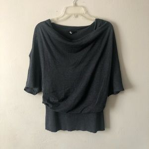 Kenneth Cole Cold Shoulder Silk Blend Knit Top M